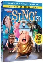 SING - BLU RAY + BLU RAY 3D + DVD -