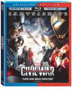CAPITAN AMERICA : CIVIL WAR -BLU RAY 3D + BLU RAY + DVD -