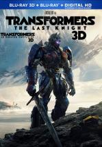 TRANSFORMERS: THE LAST KNIGHT -BLU RAY 3D + BLU RAY -